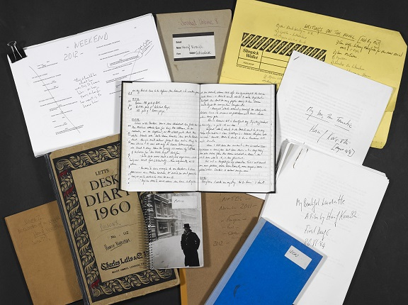 Hanif Kureishi Archive at the British Library. © Hanif Kureishi.
