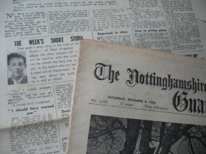 Early short stories in the Nottinghamshire Guardian